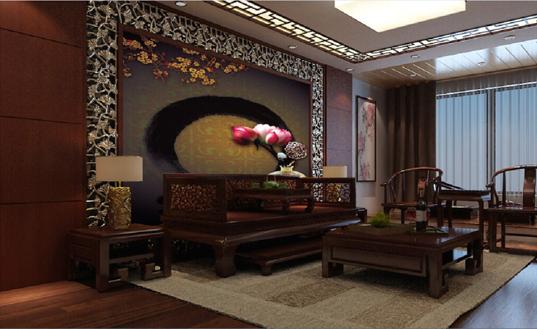 Chinese themed living room